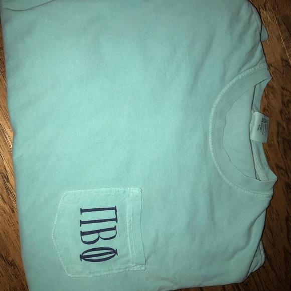Comfort Colors Tops - Pi beta phi pocket long sleeve